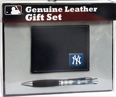 New York Yankees Bi-Fold Wallet and Pen Set