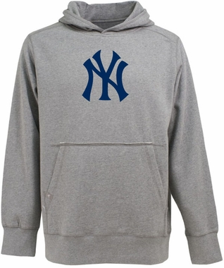 New York Yankees Big Logo Mens Signature Hooded Sweatshirt (Color: Gray)