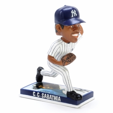 New York Yankees C.C. Sabathia 2009 Photo Base Bobblehead Figure