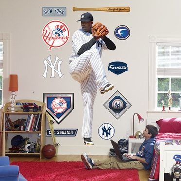 New York Yankees CC Sabathia Fathead Wall Graphic