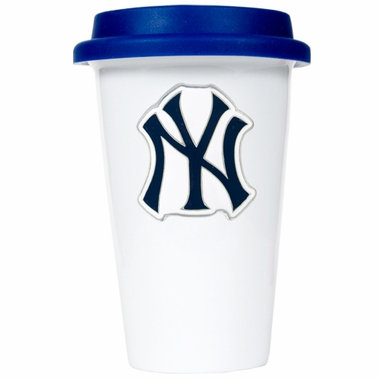 New York Yankees Ceramic Travel Cup (Team Color Lid)