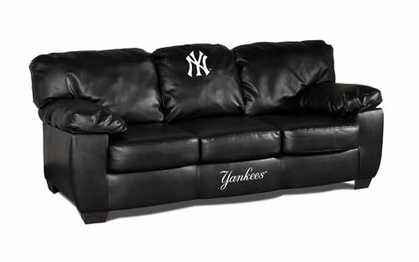 New York Yankees Leather Classic Sofa