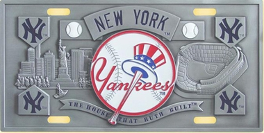 New York Yankees Deluxe Collector's License Plate