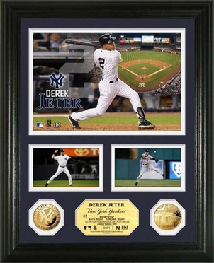 "New York Yankees Derek Jeter Gold Coin ""Showcase"" Photo Mint"