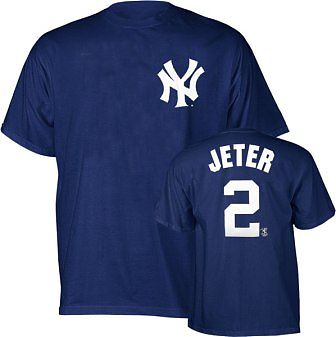New York Yankees Derek Jeter Name and Number T-Shirt