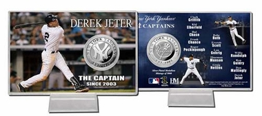 "New York Yankees Derek Jeter ""The Captain"" Silver Coin Card"