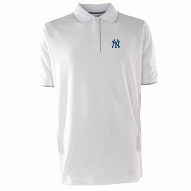New York Yankees Mens Elite Polo Shirt (Color: White)