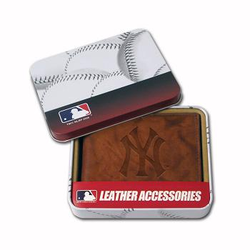 New York Yankees Embossed Leather Bifold Wallet