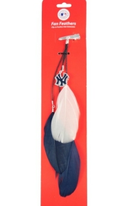 New York Yankees Feather Hair Clip