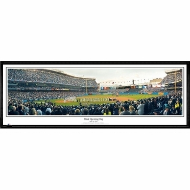 New York Yankees Final Opening Day Framed Panoramic Print