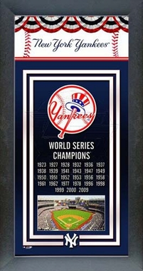 New York Yankees Framed Championship Banner