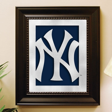 New York Yankees Framed Laser Cut Metal Wall Art