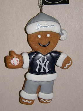 New York Yankees Gingerbread Man Christmas Ornament