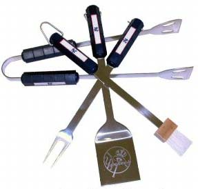 New York Yankees Grill BBQ Utensil Set