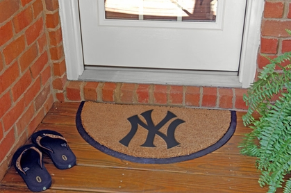 New York Yankees Half Moon Door Mat