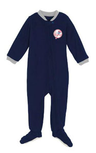 New York Yankees Infant Footed Sleeper Pajamas - 12 Months