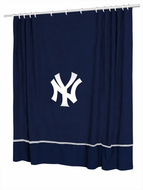 New York Yankees Jersey Material Shower Curtain