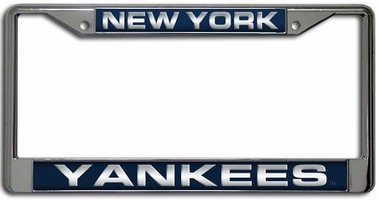 New York Yankees Laser Etched Chrome Lisense Plate Frame