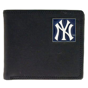 New York Yankees Leather Bifold Wallet (F)