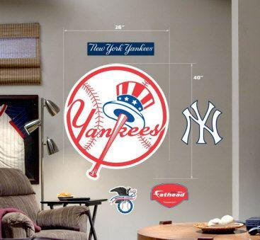 New York Yankees Logo (Tophat) Fathead Wall Graphic