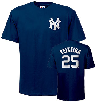 New York Yankees Mark Teixeira Name and Number T-Shirt