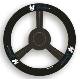 New York Yankees Leather Steering Wheel Cover