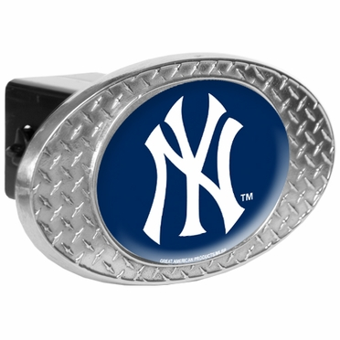 New York Yankees Metal Diamond Plate Trailer Hitch Cover