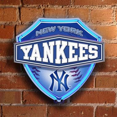 New York Yankees Neon Shield Wall Lamp