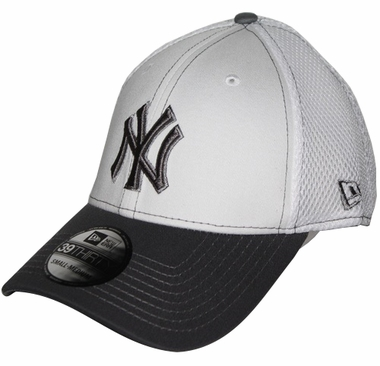 New York Yankees New Era 39THIRTY Blitz Neo Fitted Hat - Gray