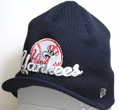 New York Yankees New Era MLB Retro Viza Visor Knit Hat