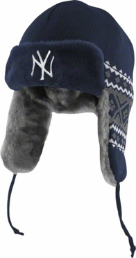 New York Yankees New Era Team Trapper Knit Trooper Hat