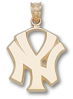 "New York Yankees ""NY"" 10K Gold Pendant"