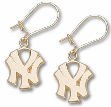 "New York Yankees ""NY"" 10K Gold Post or Dangle Earrings"