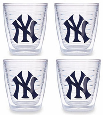 New York Yankees (NY) Set of FOUR 12 oz. Tervis Tumblers
