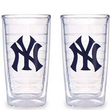 New York Yankees (NY) Set of TWO 16 oz. Tervis Tumblers