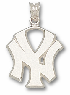 """New York Yankees """"NY"""" Sterling Silver Pendant"""