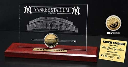 New York Yankees Original Yankee Stadium 24KT Gold Coin Etched Acrylic