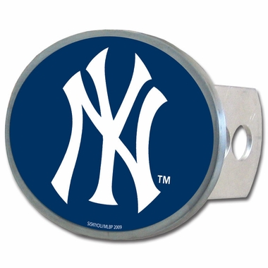 New York Yankees Oval Metal Hitch Cover