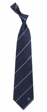 New York Yankees Oxford Stripe Woven Silk Necktie