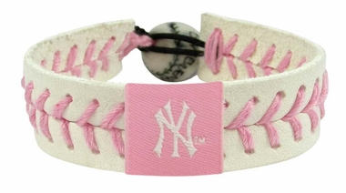 New York Yankees Pink Baseball Bracelet