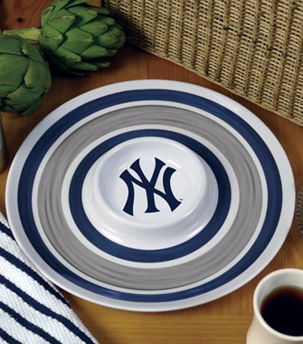 New York Yankees Plastic Chip and Dip Plate