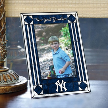 New York Yankees Portrait Art Glass Picture Frame