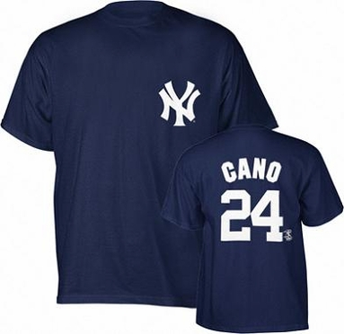 New York Yankees Robinson Cano YOUTH Name and Number T-Shirt