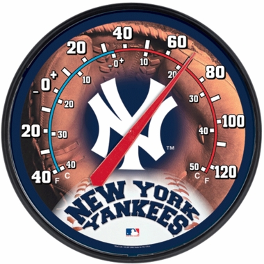 New York Yankees Round Wall Thermometer