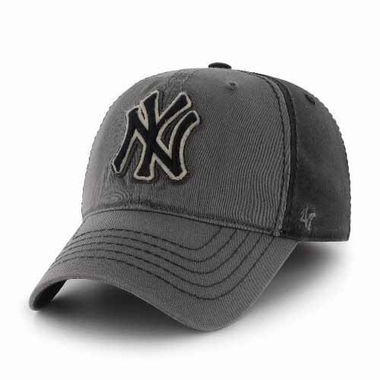 New York Yankees Saluki Stretch Fit Hat - Charcoal