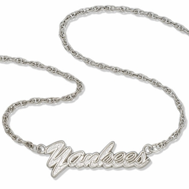 New York Yankees Script Necklace