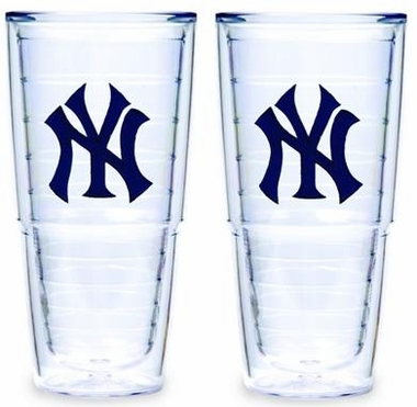 "New York Yankees Set of TWO 24 oz. ""Big T"" Tervis Tumblers"