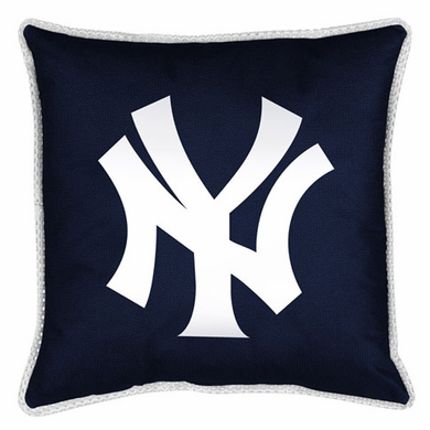 New York Yankees SIDELINES Jersey Material Toss Pillow