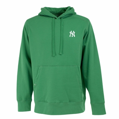 New York Yankees Mens Signature Hooded Sweatshirt (Color: Green)