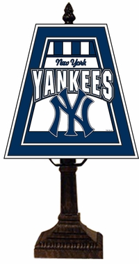 New York Yankees Small Art Glass Lamp